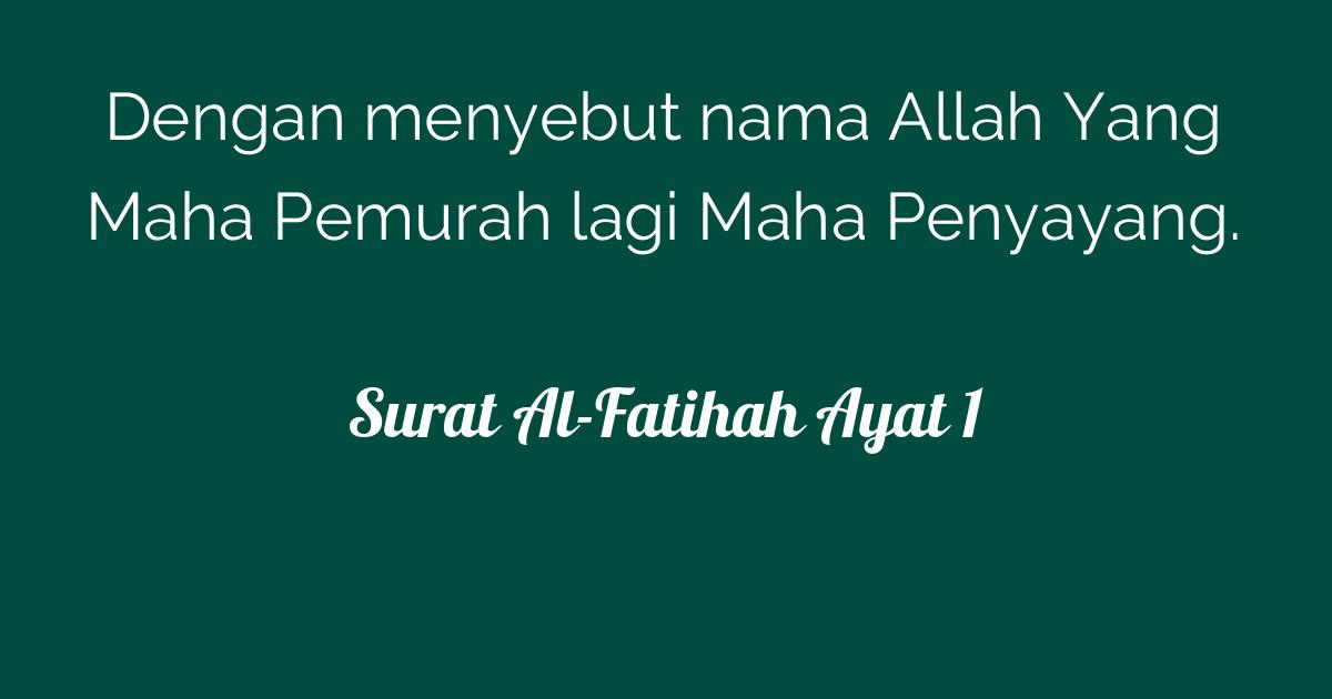 Surat Al Fatihah Ayat 1 Tafsirqcom