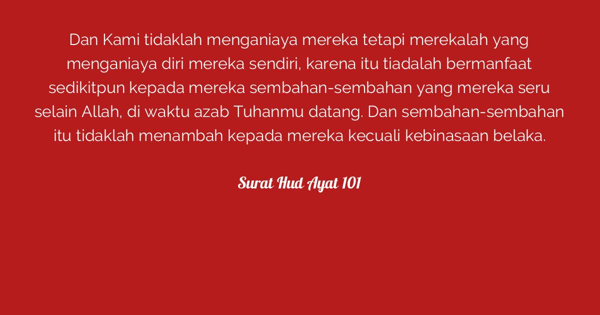 Surat Hud Ayat 101 Tafsirqcom