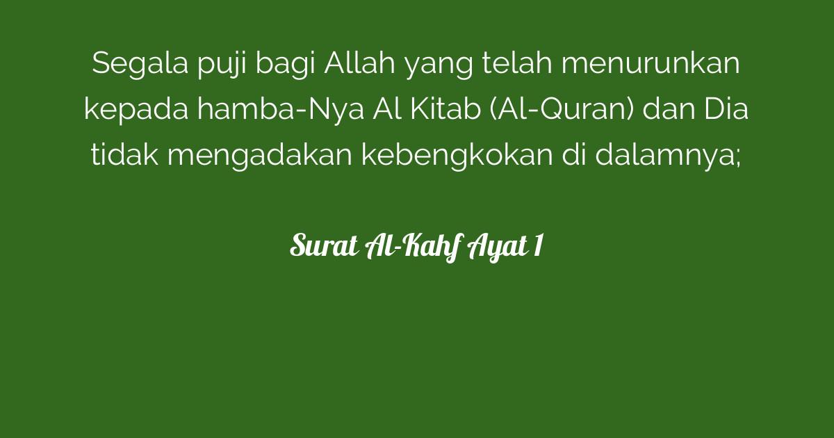 Surat Al Kahf Ayat 1 Tafsirqcom