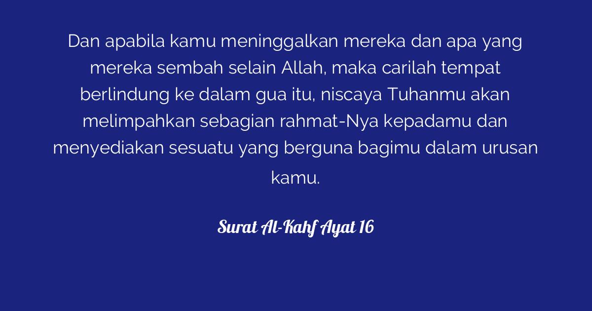 Surat Al Kahf Ayat 16 Tafsirqcom