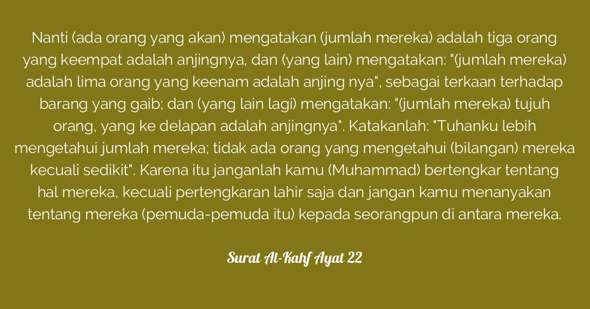 Surat Al Kahf Ayat 22 Tafsirqcom