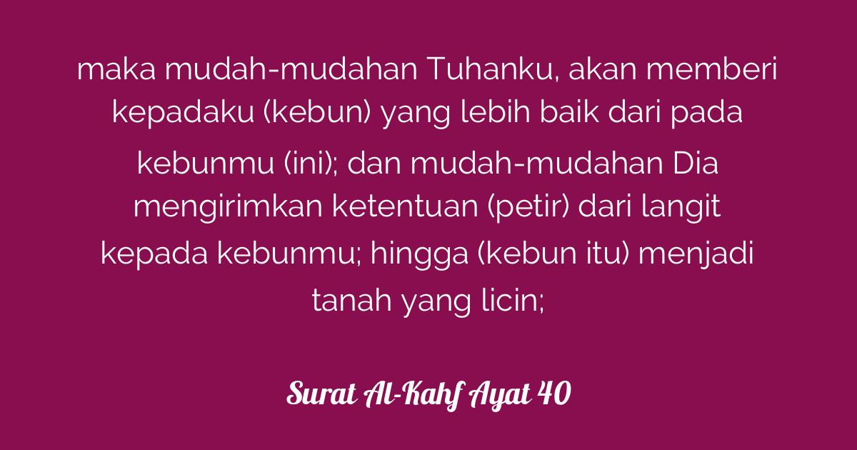 Myke Top Ten Arti Surat Al Kahf Ayat 100 110
