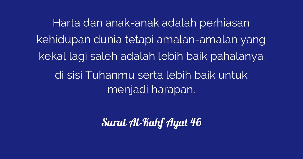 Surat Al Kahf Ayat 46 Tafsirqcom