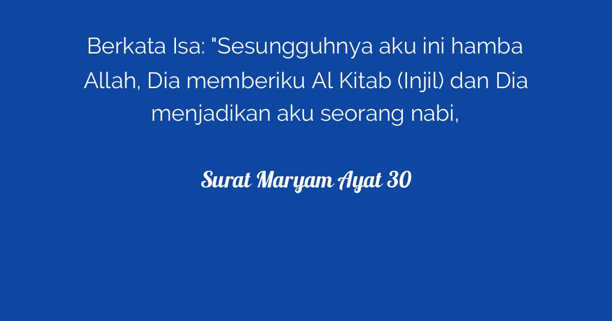 Surat Maryam Ayat 30 Tafsirqcom