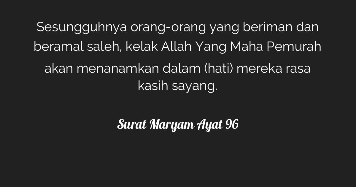 Surat Maryam Ayat 96 Tafsirqcom