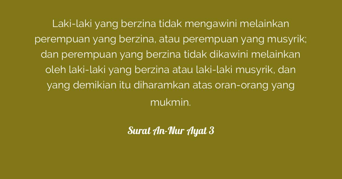 Surat An Nur Ayat 3 Tafsirqcom