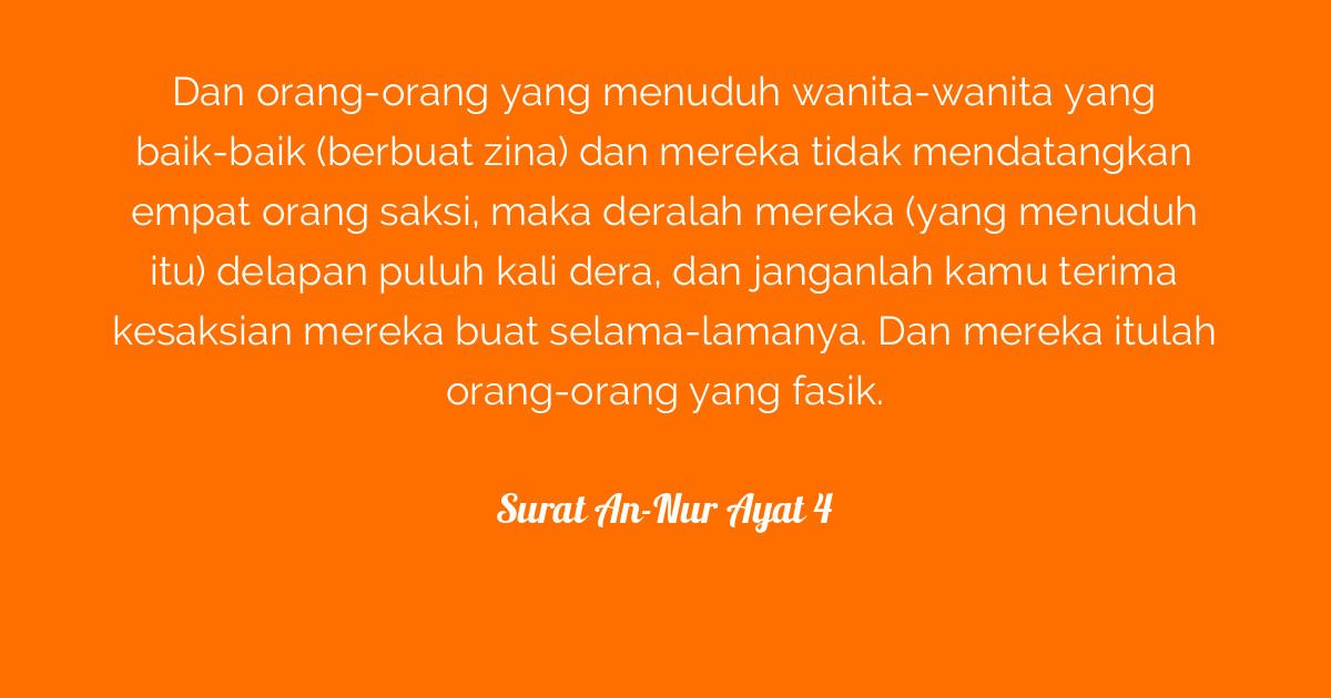 Surat An Nur Ayat 4 Tafsirqcom