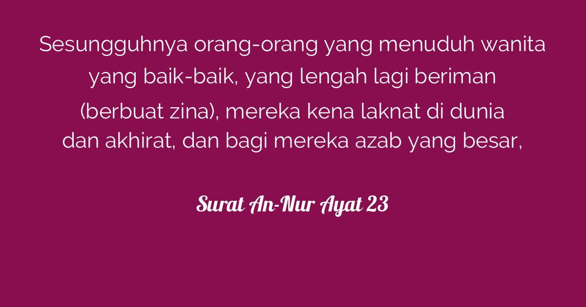 Surat An Nur Ayat 23 Tafsirqcom