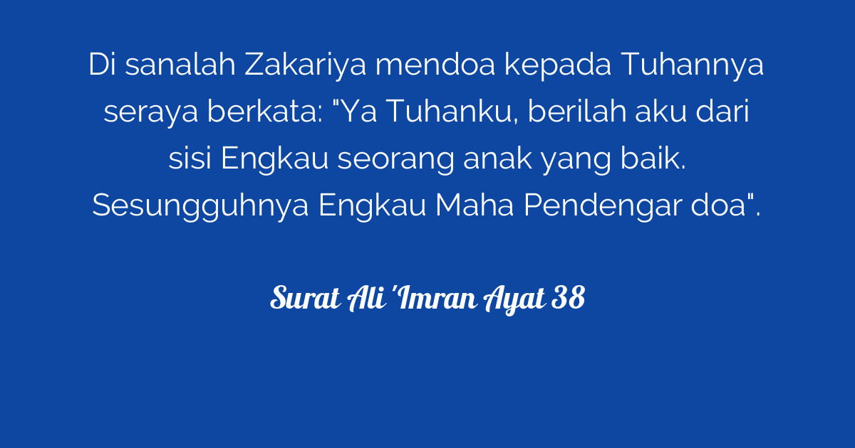 Surat Ali Imran Ayat 38 Tafsirqcom