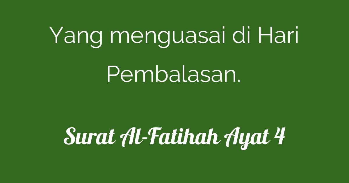 Surat Al-Fatihah Ayat 4 | Tafsirq.com