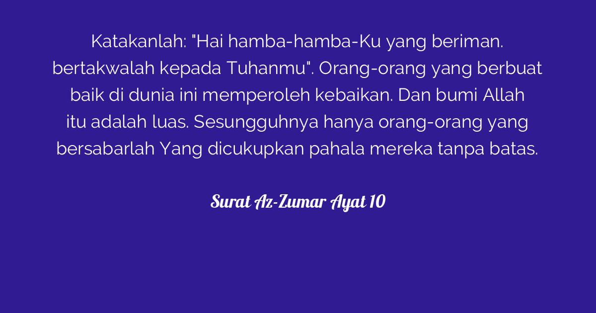 Surat Az Zumar Ayat 10 Tafsirqcom