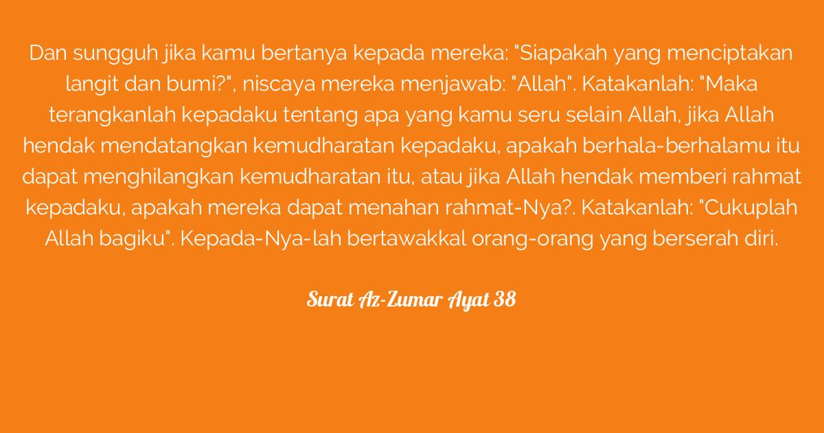 Surat Az Zumar Ayat 38 Tafsirqcom