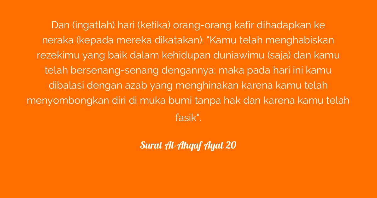 Surat Al Ahqaf Ayat 20 Tafsirqcom