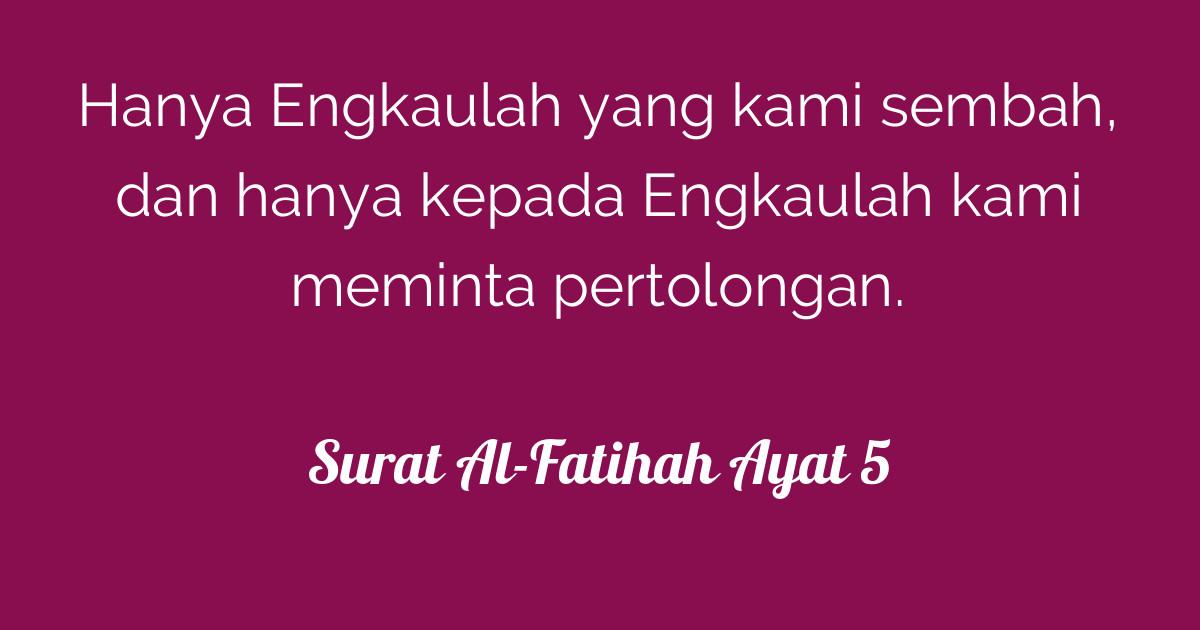 Surat Al Fatihah Ayat 5 Tafsirqcom
