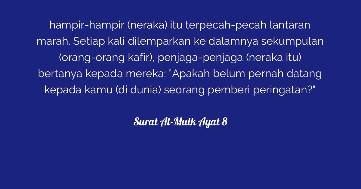 Surat Al Mulk Ayat 8 Tafsirqcom