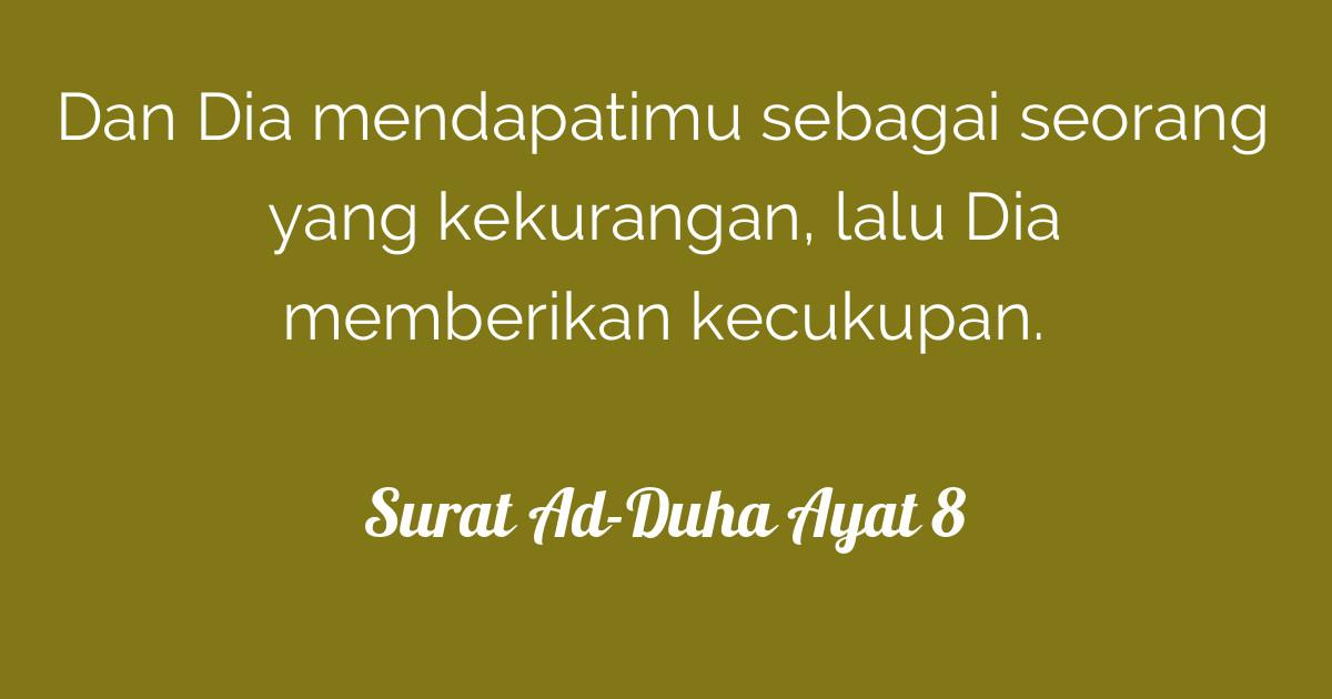 Surat Ad Duha Ayat 8 Tafsirqcom