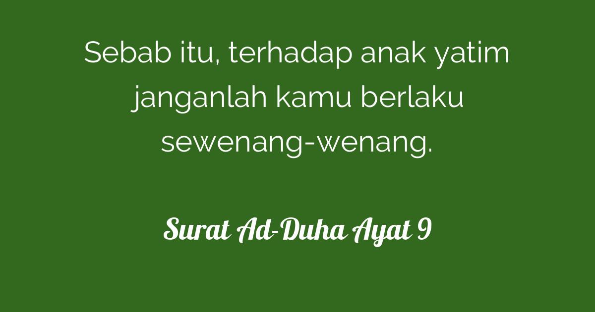 Surat Ad Duha Ayat 9 Tafsirqcom