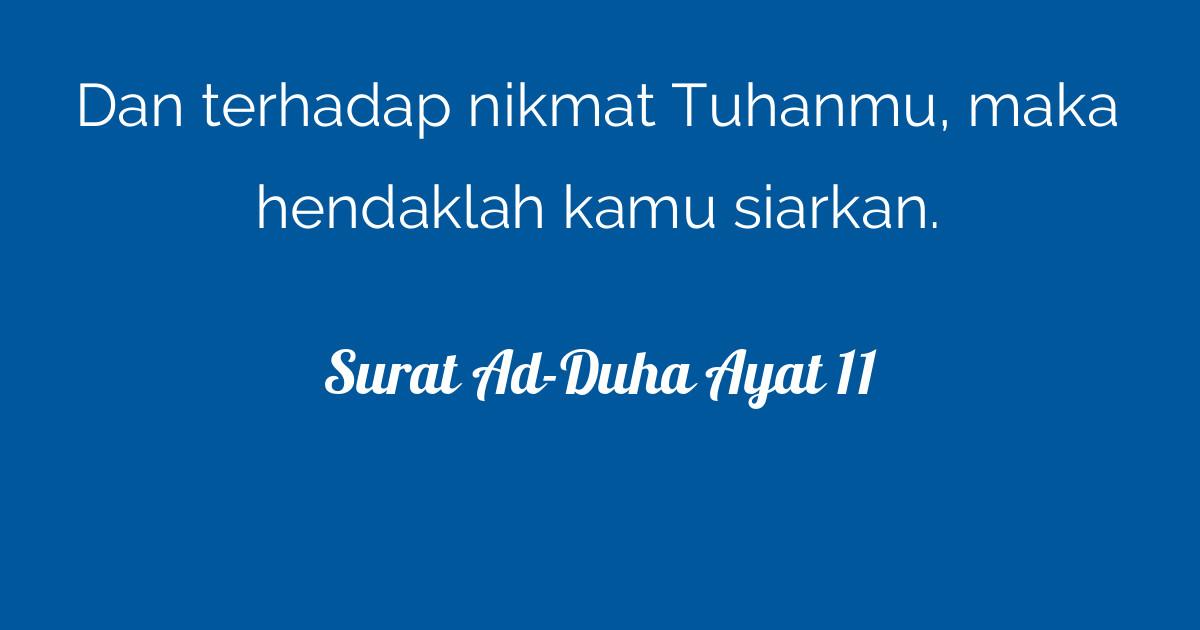 Surat Ad Duha Ayat 11 Tafsirqcom