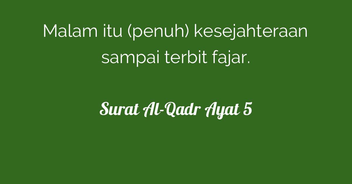 Surat Al Qadr Ayat 5 Tafsirqcom