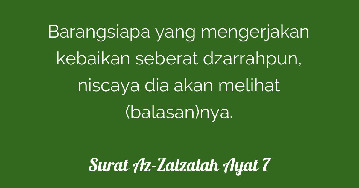 Surat Az Zalzalah Ayat 7 Tafsirqcom
