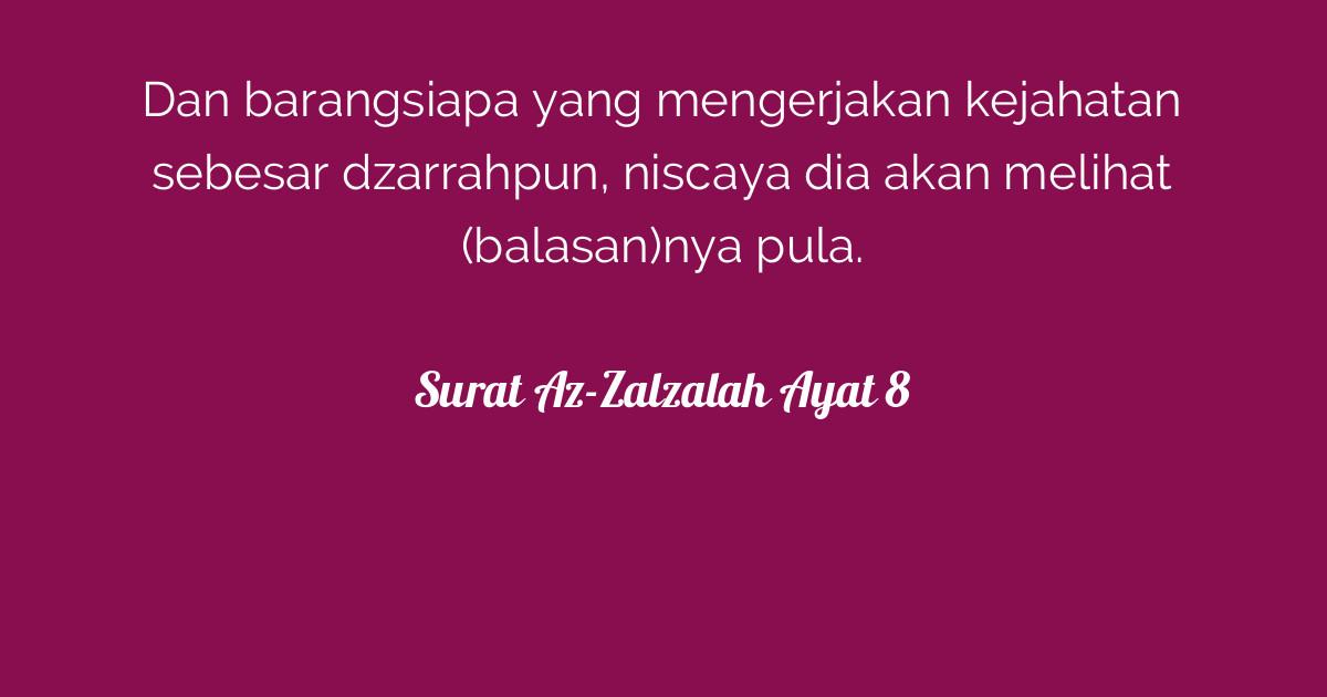 Surat Az Zalzalah Ayat 8 Tafsirqcom