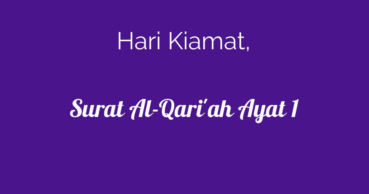 Surat Al Qariah Ayat 1 Tafsirqcom