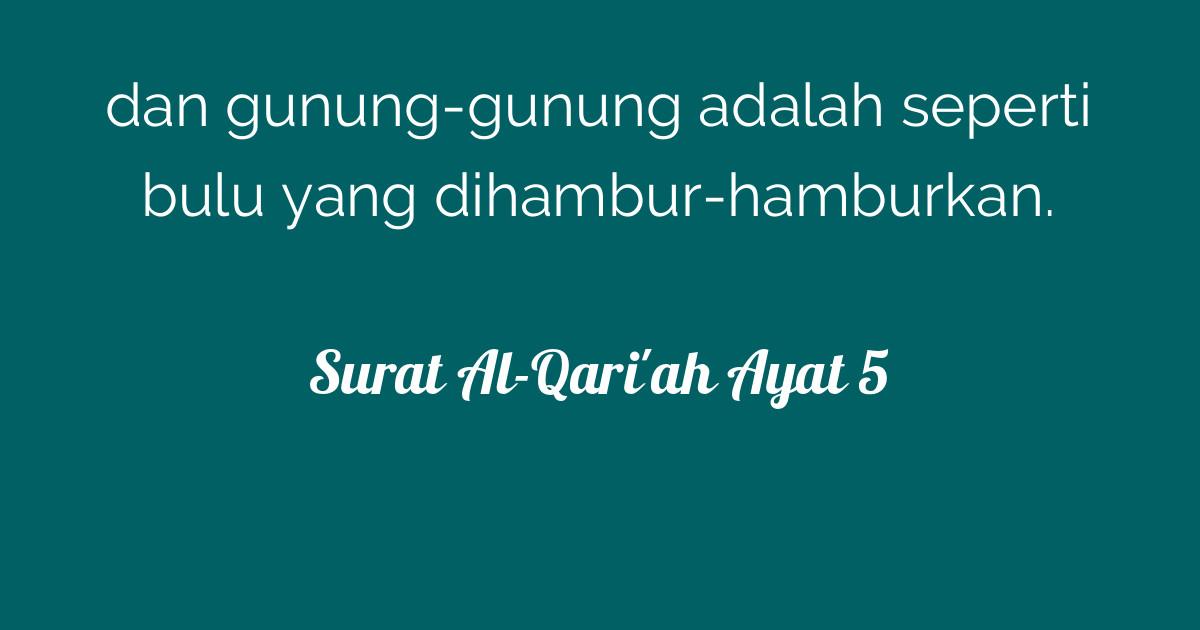 Surat Al Qariah Ayat 5 Tafsirqcom