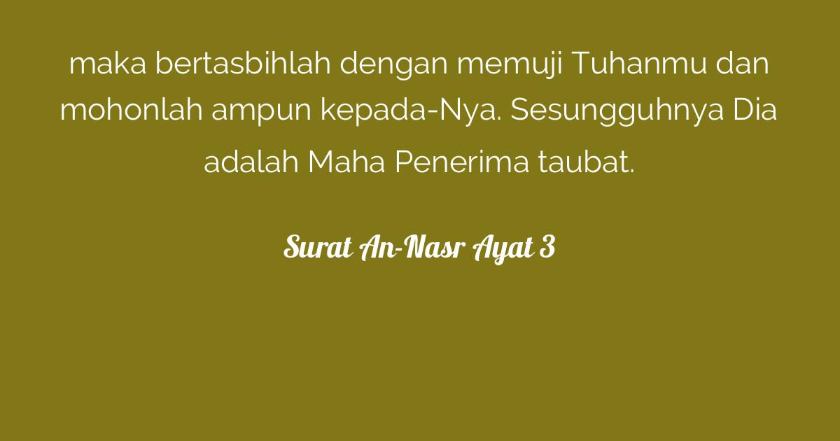 Surat An-Nasr Ayat 3 | Tafsirq com