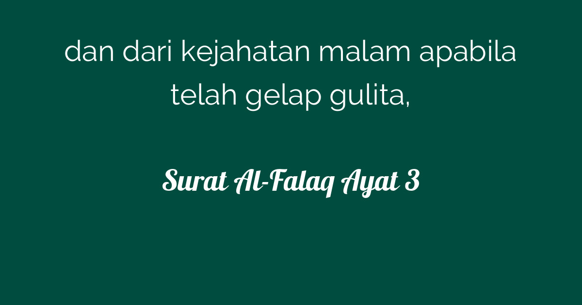 Surat Al Falaq Ayat 3 Tafsirqcom