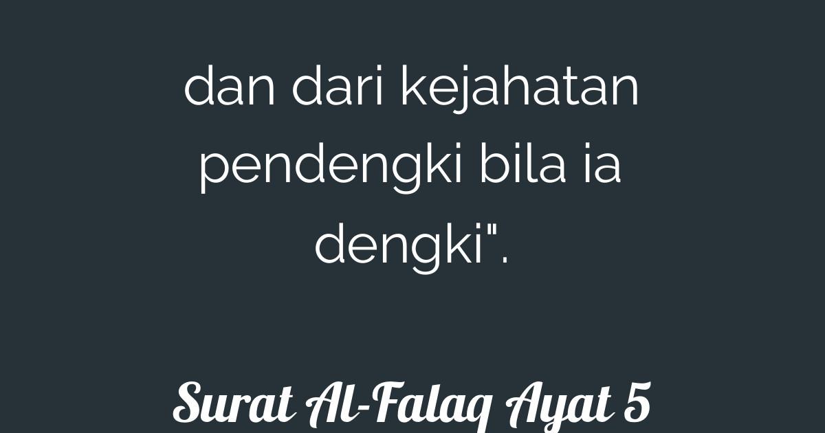 Surat Al Falaq Ayat 5 Tafsirqcom