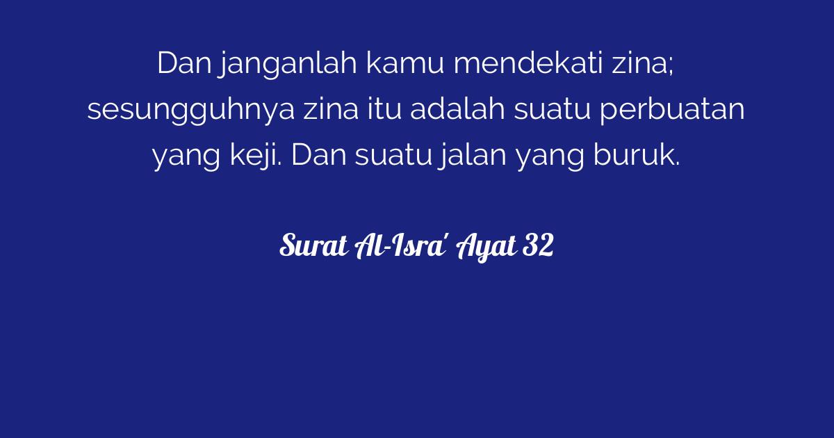 Surat Al Isra Ayat 32 Tafsirqcom