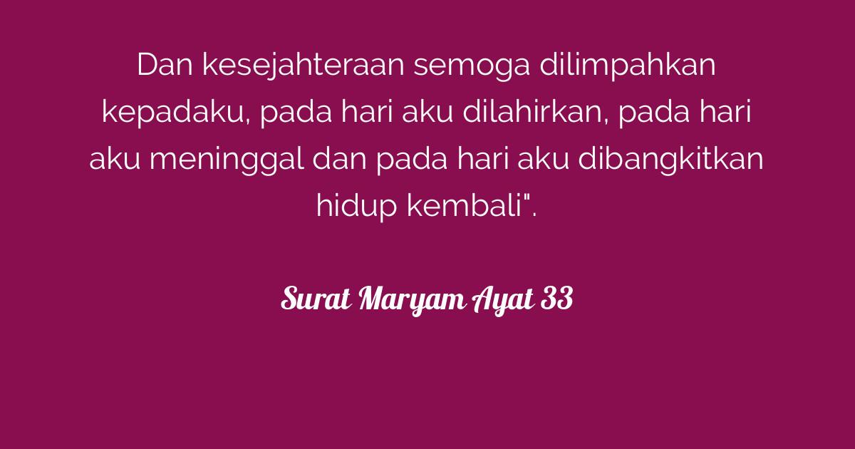 Surat Maryam Ayat 33 Tafsirqcom