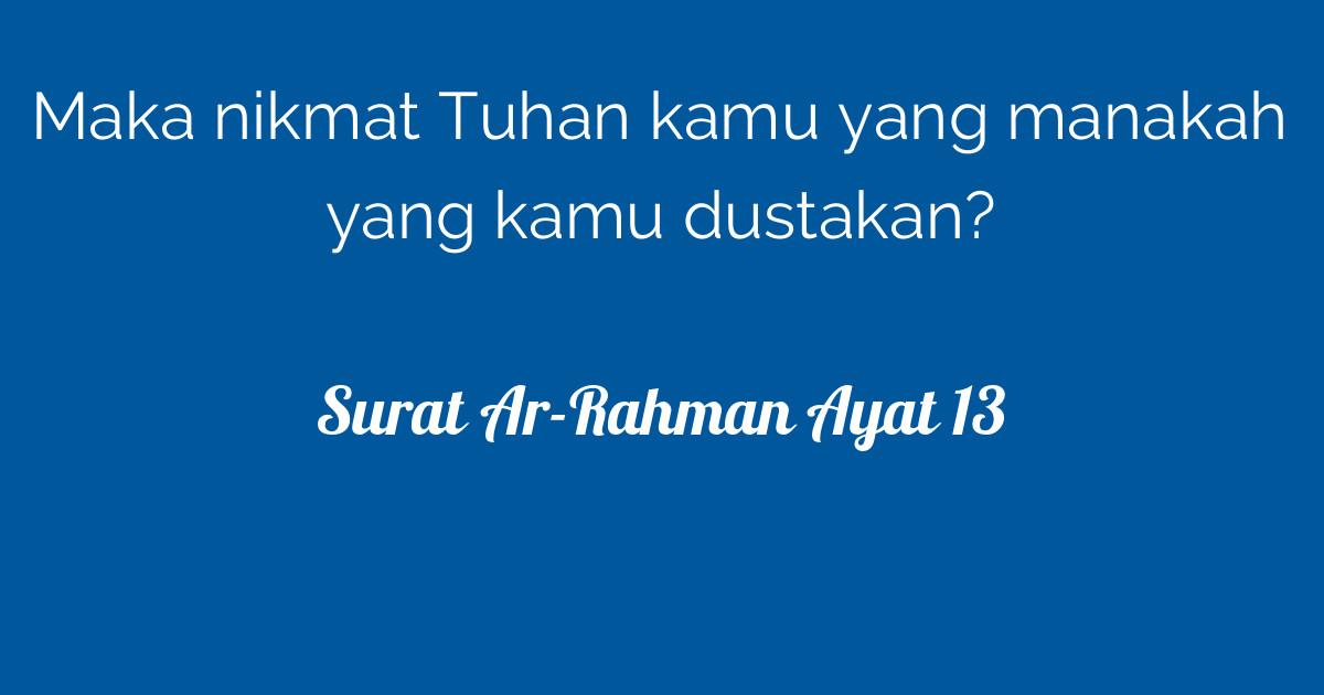 Surat Ar Rahman Ayat 13 Tafsirqcom